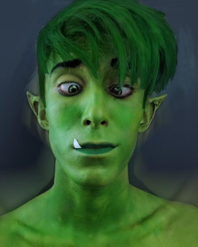 Beast Boy cosplay Universo DC Comics - Teen Titans - Teen Titans Go - Gab Cosplay - Cosplayer italiano